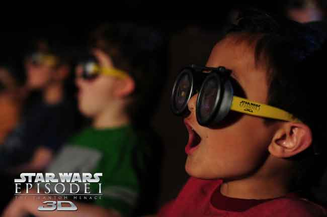 Star Wars Episode I The Phantom Menace AMC Anakin Skywalker Podracer 3D glasses