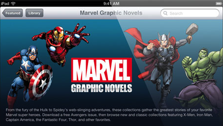 Marvel Graphic Novels iBookstore main