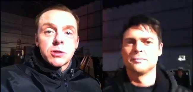 Simon Pegg and Karl Urban Star Trek 2