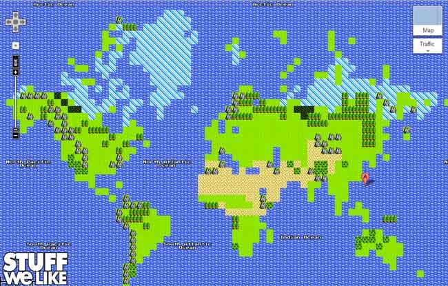Google Maps April Fools' Day