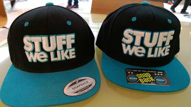 Two StuffWeLike Blue Snapbacks