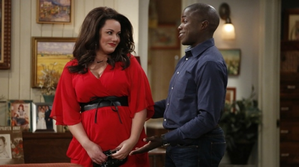 Katy Mixon and Reno Wilson